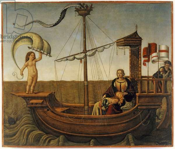 The Ship of Love, c.1500 (tempera on wood)