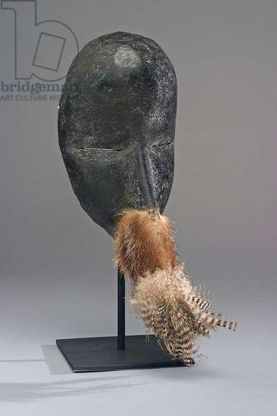 Face mask, Dan people (Cote d'Ivoire and Liberia), (wood, fur, feathers & textile)