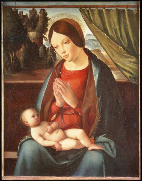 Madonna adoring the Child, c.1510 (tempera on wood)
