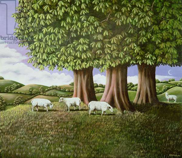 Sheep under the Chestnut Trees, 1981 (panel)