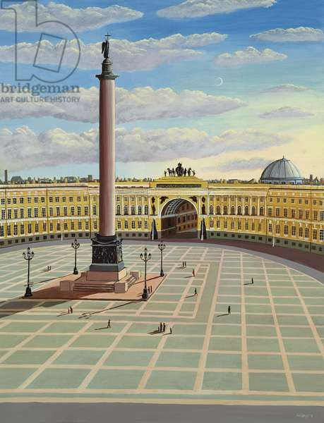 Palace Square, St. Petersburg, 1990 (acrylic)
