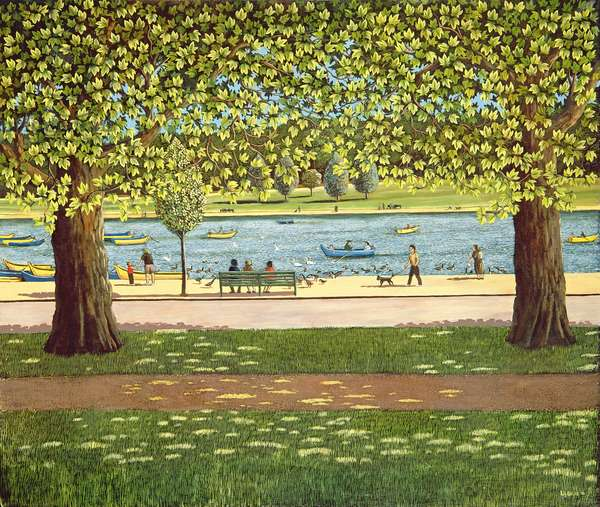 The Serpentine, Hyde Park, 1990
