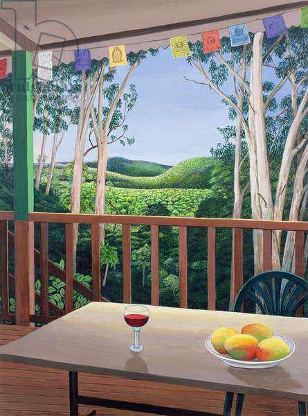 Annie's Deck in Kuranda, Queensland Australia, 2006 (acrylic on paper)