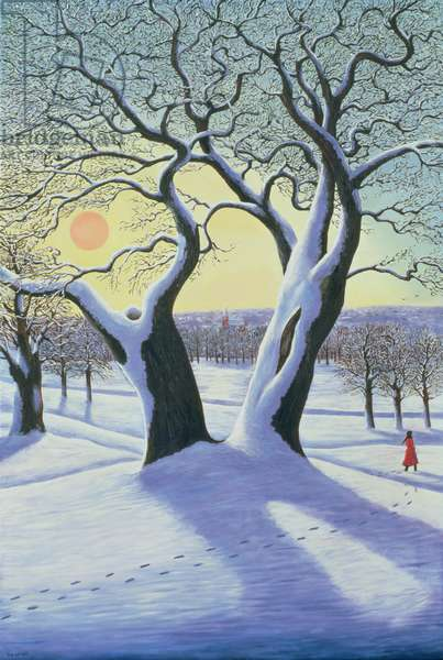 Divided Tree in the Snow, 1997 (oil on canvas)