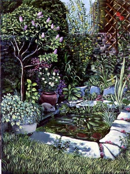 A Garden Pond, 1983 (panel)