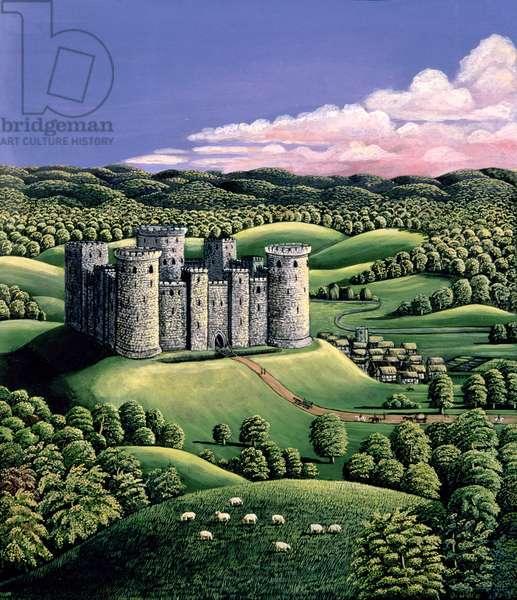 Medieval Castle, 1985 (gouache)
