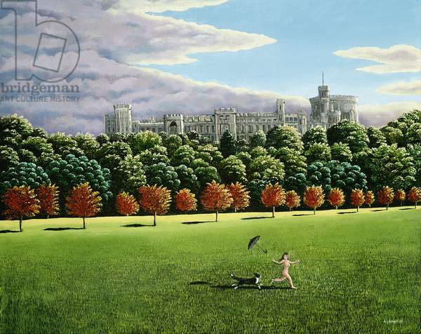 Streaking at Windsor Castle, 1988 (panel)