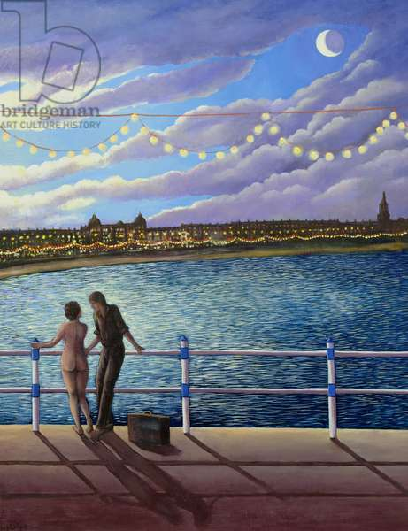 Weymouth Lights, 1999 (oil on canvas)