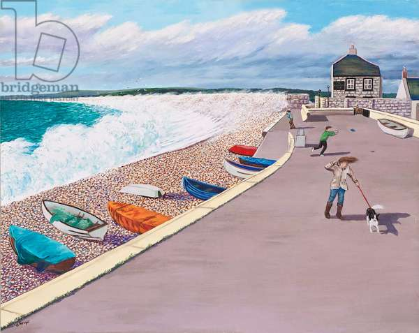 Windy Day on the Promenade, 2012 (oil on ply board)
