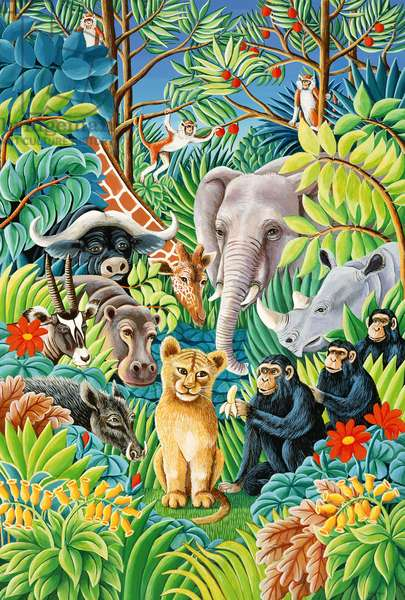 Jungle Party, 1993 (acrylic on paper)