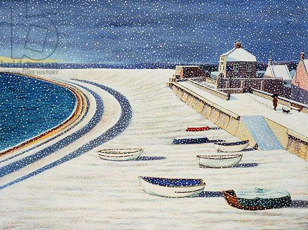 Cove House Inn and Snow, 2008 (acrylic on paper)