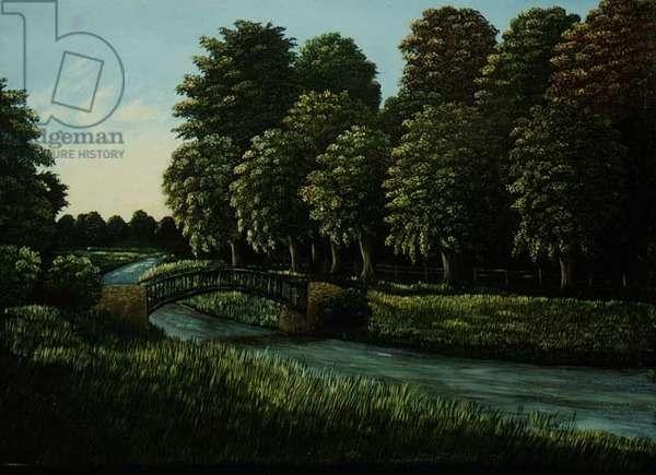 Foot Bridge at Warwick, 1980 (panel)