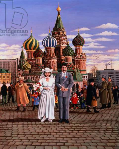 Moscow Wedding, St. Basil's, Red Square, 1987