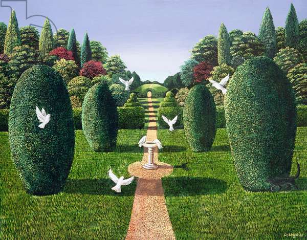 Topiary Garden, 1988 (panel)