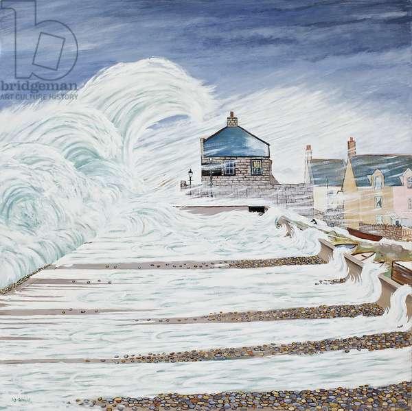 Storm over Cove House Inn, 2014 (oil on canvas)