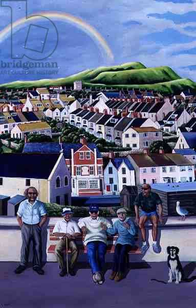 The Men of Fortuneswell, 1999 (oil on canvas)