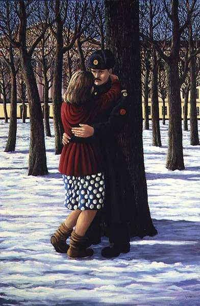 Lovers outside the Admiralty, St. Petersburg, 1990