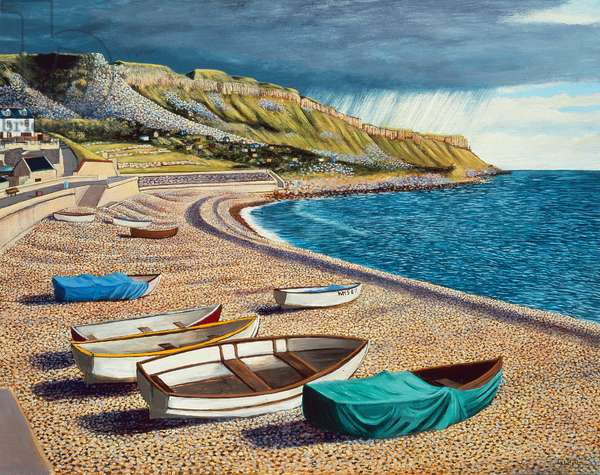 After a Storm on Chesil Beach, 2007 (oil on gessoed plywood)