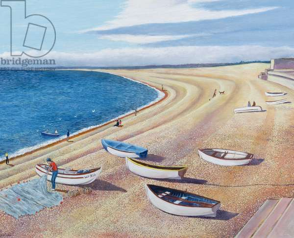 The Chesil Fleet, 2000 (oil on board)
