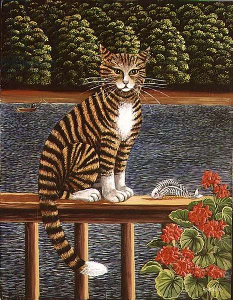 The Boat House Cat, 1988 (panel)
