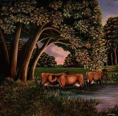 Cows in a River, 1980