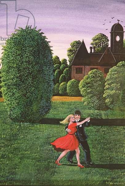 Dancing the Fandango, 1982 (gouache)