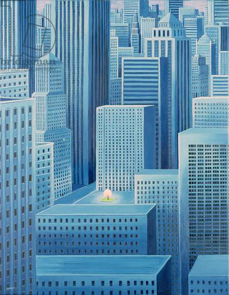 Alone in a City, 2007 (oil on canvas)