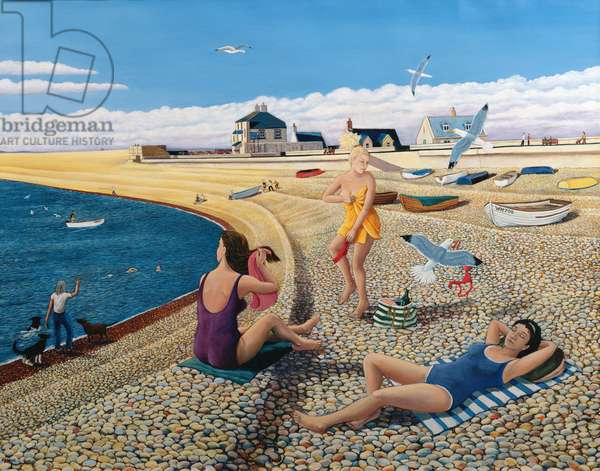 Cheeky Sea Gulls, 2005 (oil on canvas)