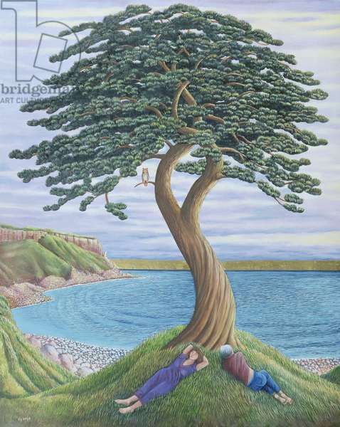 Dreaming of Trees on Portland, 2001 (oil on canvas)