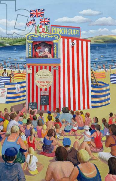 Punch and Judy, 1999 (oil on canvas)