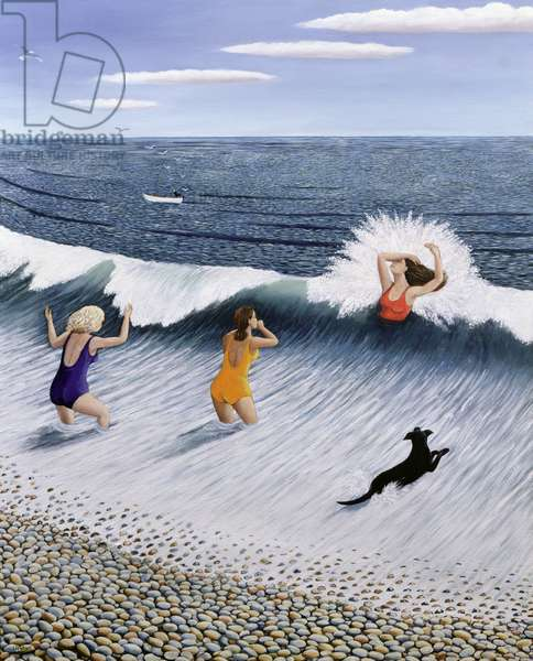 Taking the Plunge, 2005 (oil on canvas)