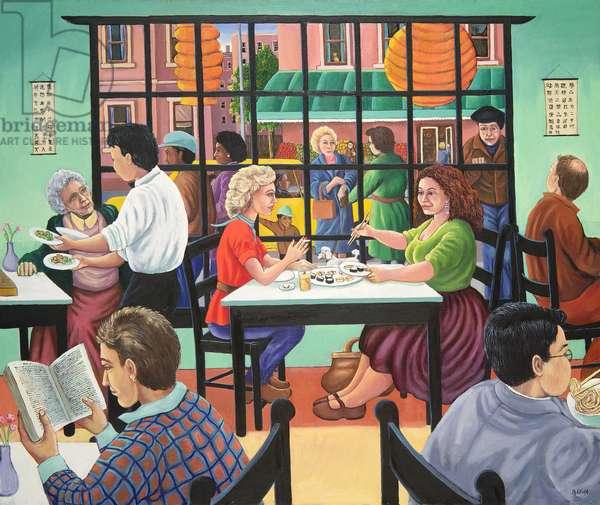 Sushi and beer, Brooklyn, 1993