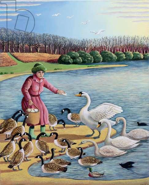 Bird Woman (oil on canvas)