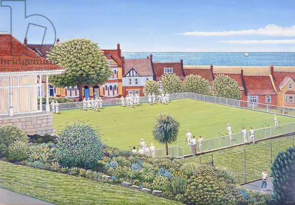 Bowls in Victoria Park, Portland, 2007 (oil on canvas)