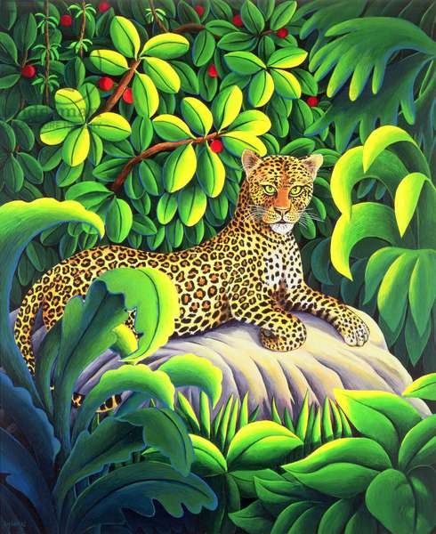 Leopard, 1993 (acrylic on paper)