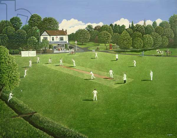 Cricket at Claygate, 1981