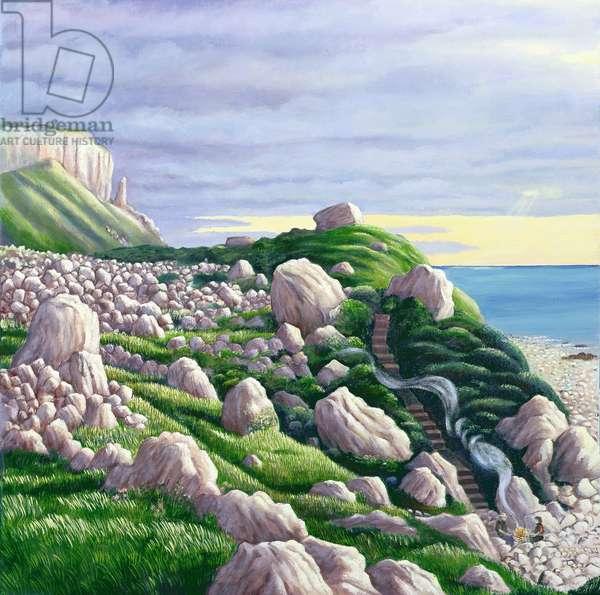 Hallelujah Bay, 1999 (oil on canvas)