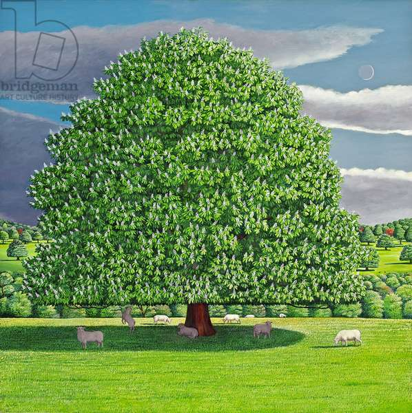 Homage to Horse Chestnut Tree, 2012 (oil on canvas)