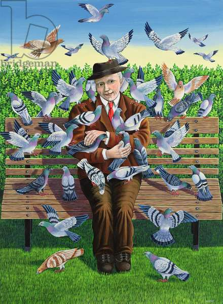 The Pigeon Fancier , 1993 (acrylic on paper)