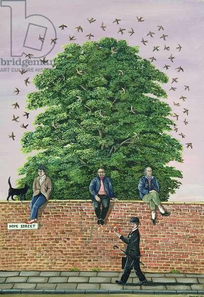 Liverpool Poets, 1984 (gouache)