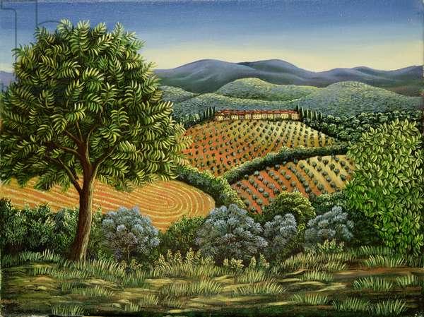 Tuscan hilltop village, 1990