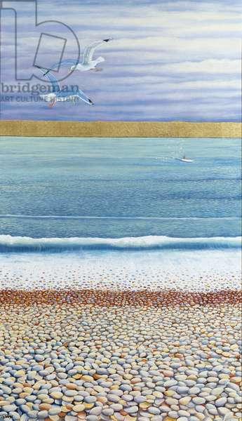 Seagulls, 2003 (oil on canvas)