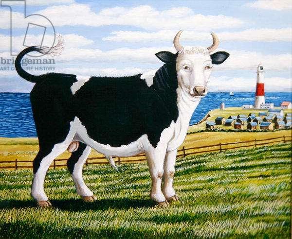 Portland Bull, 2005 (oil on board)