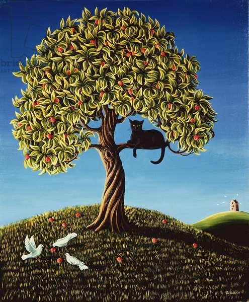 Cat in a Peach Tree, 1989
