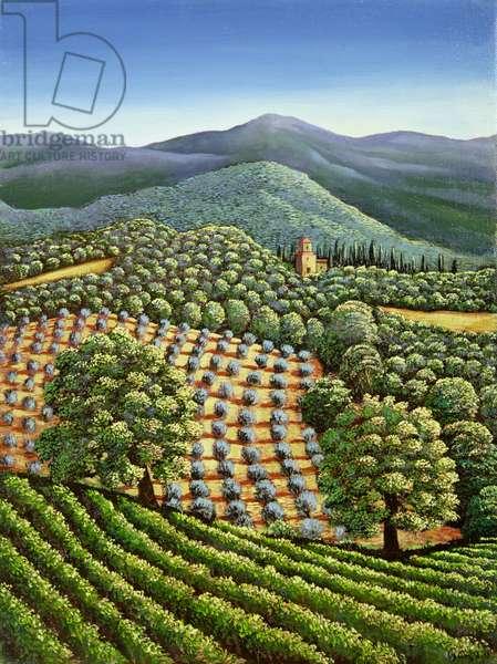Tuscan landscape, 1990