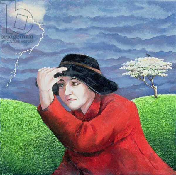 Determination, or Weathering the Storm (oil on canvas)