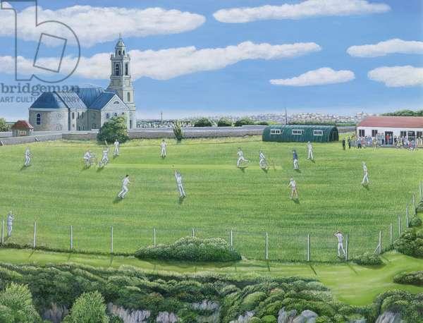 Cricket Match on Portland (oil on canvas)