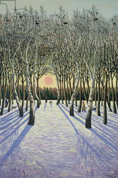 Sunset through Russian Trees, 1989