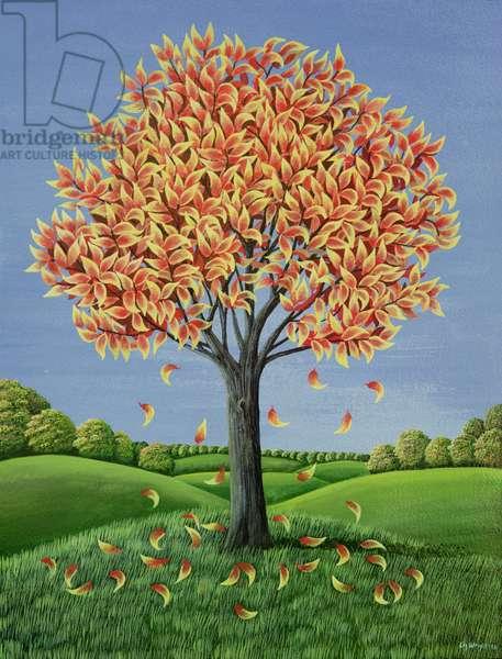 Fire Colours of Autumn, 1981 (gouache)