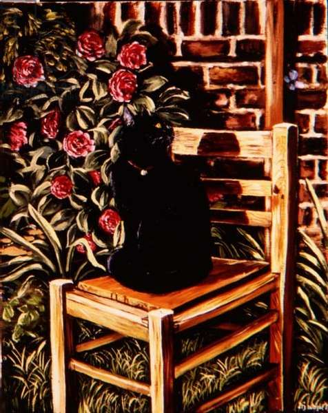 Black Cat on a Chair, 1983